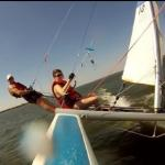 Nacra 5.0 hull flying