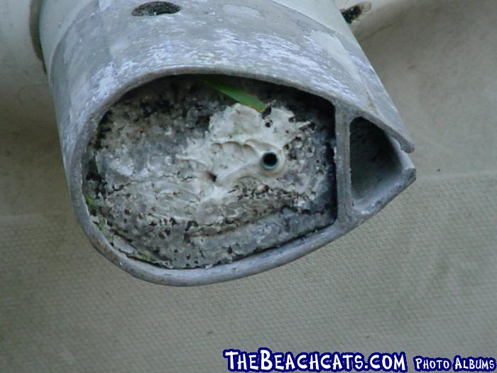 '81 H-16 Front Post: Note foam plug.