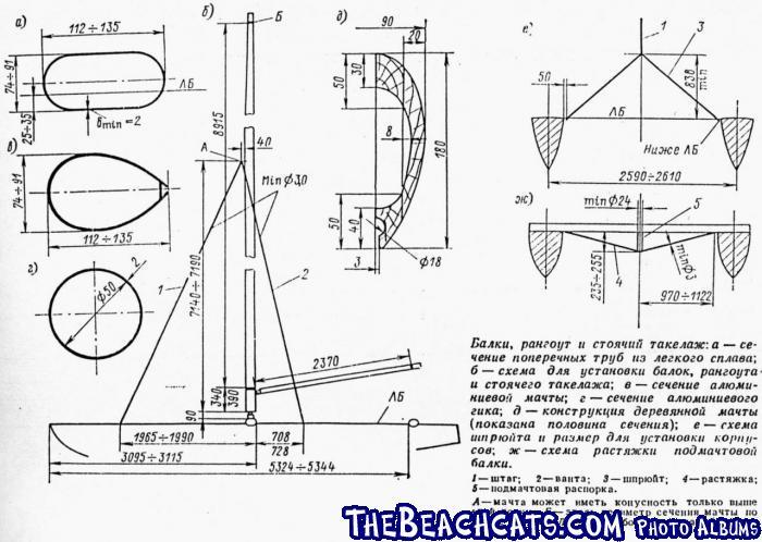 Russian Tornado Plans :: Catamaran Sailboats at TheBeachcats.com