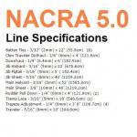 Nacra 5.0 Line Lengths