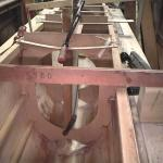 pic037-Make sure the centre case in perp to the keel and then fix it in place.