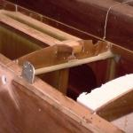 pic043-Fitting lass tube thru hull for trap wire.