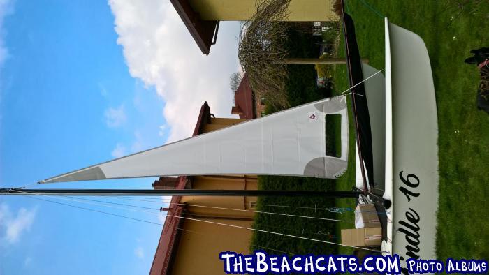Jib square for regatta