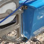 rudder mounted outside of brackets