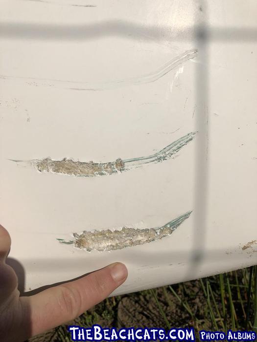 Nacra hull damage 1