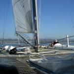 From the starboard stern to the post aft - 52'
