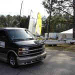 Chevy Van with TheBeachcats.com Sign