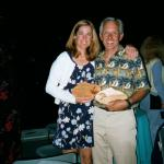 Collecting our trophies at the 2001 Hobie 16 Continentals in Monterey