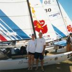 Pat & Terri at the 2002 Worlds in New Caledonia