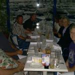 Joe Sailor, his son, Gary, Sandy, Buzz, Jack Hoying and his wife, Shari, me and Joe's wife. Dinner after sailing.