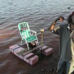Alabama Crimson Tide homemade catamaran
