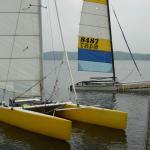 Damon's and Philip's boats: Cat Caper 2004