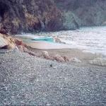 wrecked boat at Goat Harbor, Catalina Island