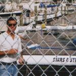 Here I am (JAG459) taking a break after the mast was set in place.