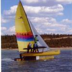 TrtlDave & Donna H-18 Heron Lake New Mexico, Hobie Fleet 48