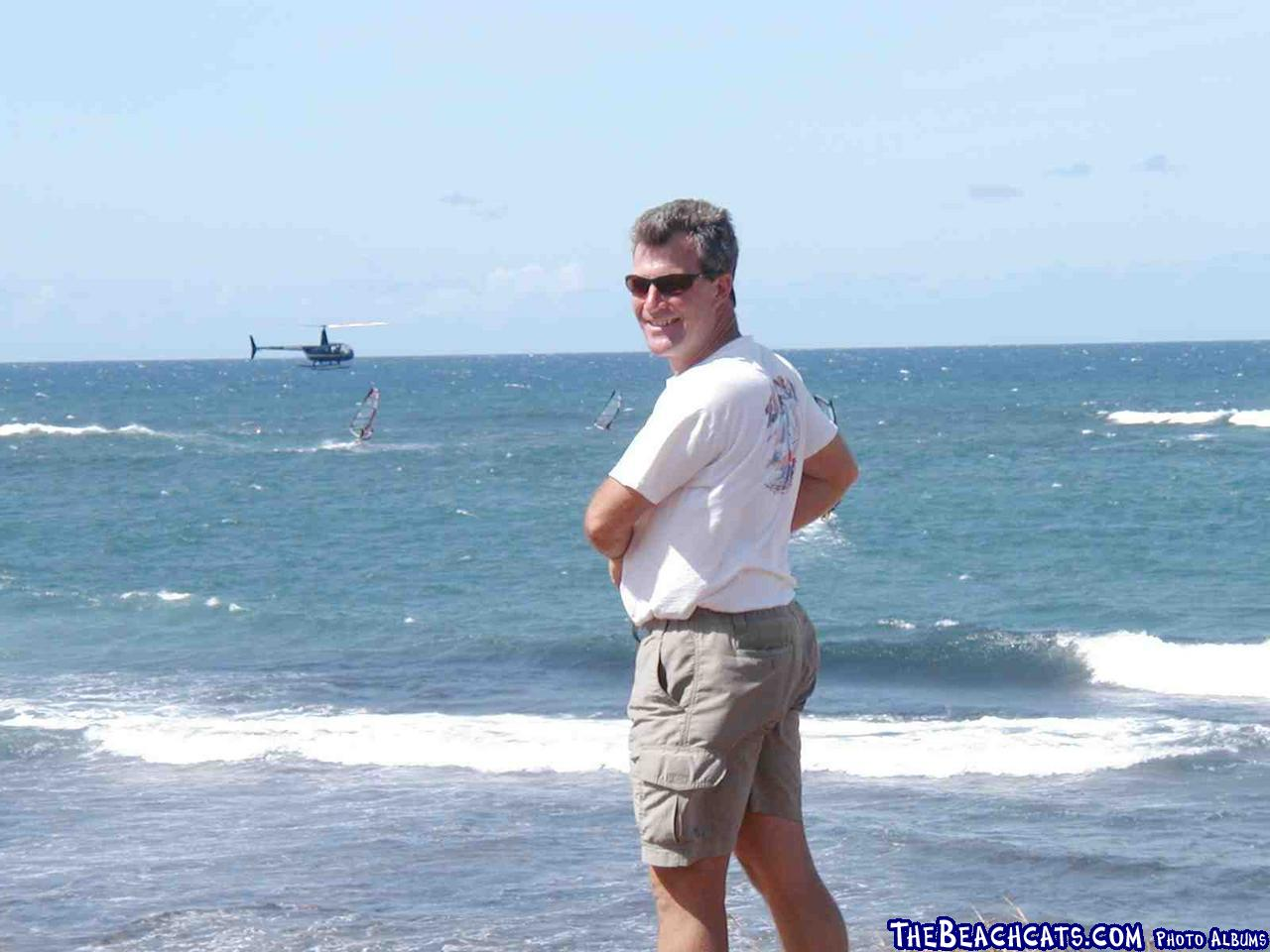 Watching Windsurfers in Hawaii