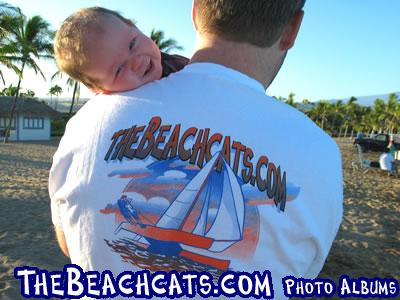 A-Bay on the Island of Hawaii and Youngest Beachcats Member