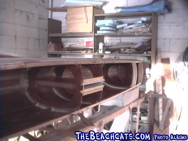 pic038-Centrecase, rear beam b/h and landing ,transom and c/s b/hs fitted.