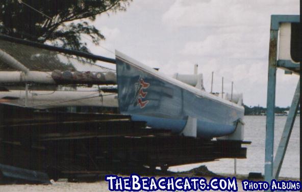 Stars & Stripes in dry dock, Fort Myers,Fl 10/03.