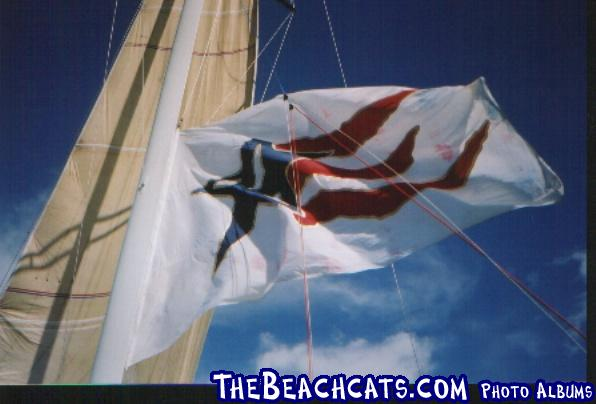 Stars & Stripes flag flown for the first time since the 88 America's Cup.