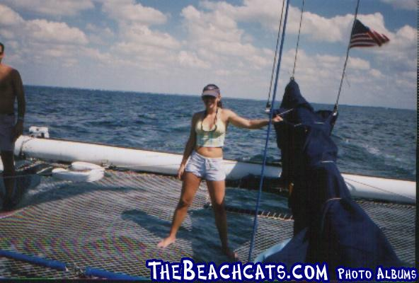 Jenny's(Daughter of JAG)first sailing experience. What a way to start!