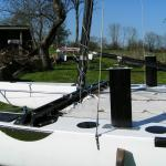 20 foot catamaran with Hobie mast and sails Please help identify