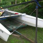"is this a Windrush? Its pontoon is 15'-2"". cross bars are 7'-6"""