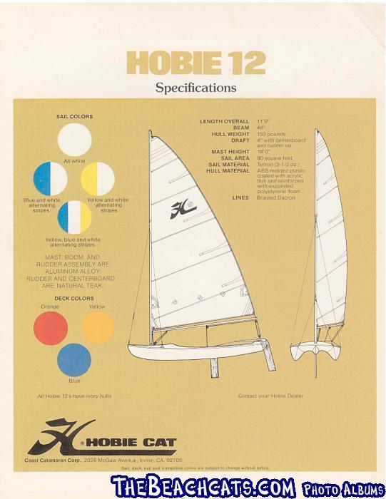 Hobie Monocat Brochure Page 4