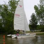 Alex's Prindle 16, maiden voyage, gun lake