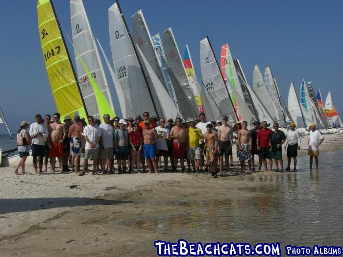 Ocean Springs Yacht Club Slip to Ship - Group Shot on Ship Island