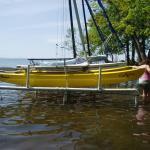 Catamaran On-Water Storage Racks