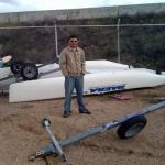 Nacra Tipped Over 1