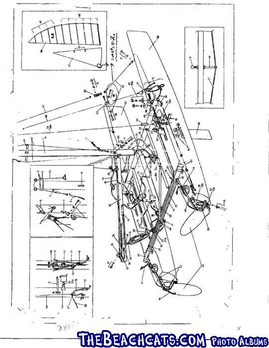 nacra diagram :: Catamaran Sailboats at TheBeachcats.com