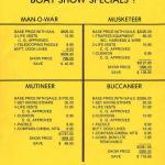 Chrysler Sailboat Price Sheet