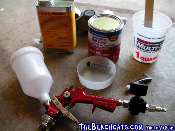 Spraying Gelcoat