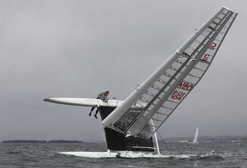 Aethon Steve Clark Capsize during 2010 Little America's Cup